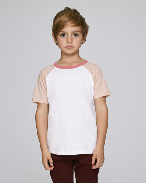 Mini Jump Short Sleeve White Cream Heather Pink Flamingo Pink