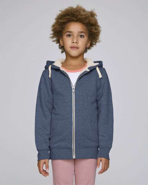 Mini Voyages Sherpa Dark Heather Blue