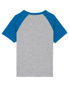 Mini Catcher Short Sleeve Heather Grey Royal Blue