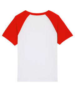 Mini Catcher Short Sleeve White Bright red
