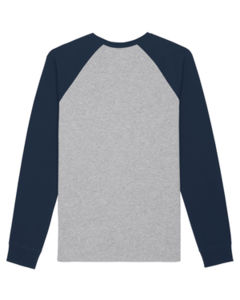 Catcher Long Sleeve Heather Grey French Navy